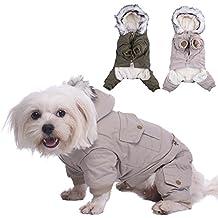 WIDEN Ropita para perros para mascotas ropa para perros ropa de invierno de cuatro patas capa de la chaqueta de la locomotora