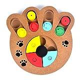 JullyeleESgant Multifuncional Alimentos Naturales Tratados Madera Educativa Paw Puzzle Juguete Interactivo para Cachorros Perros Gatos Mascotas Suministros