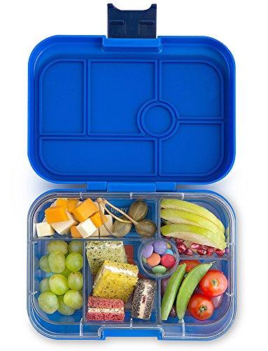 Yumbox Original M Lunchbox - (Neptune Blue, 6 Fächer) - Brotdose mit Unterteilung | Bentobox mit Trennwand Einsatz für Schule und Kindergarten Kinder, Picknick, Arbeit sowie Uni -
