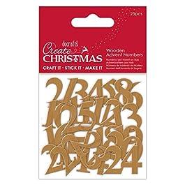 Crea numeri natalizi in legno, taglia unica