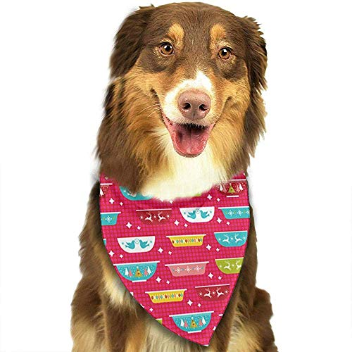 Kostüm Matching Hunde - Eross Weihnachtsgeschirr Bandana Triangle Lätzchen Schals Accessoires für Katzen und Welpen. Größe ist ca. (70x30cm).