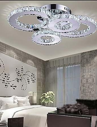 Yancui Led Crystal Lamp Atmosphere Living Room Lamp Creative Ceiling Lamp Bedroom Lamp Deluxe
