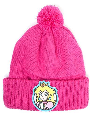 Super Mario kc083090ntn Nintendo Prinzessin Peach Beanie (One Size)