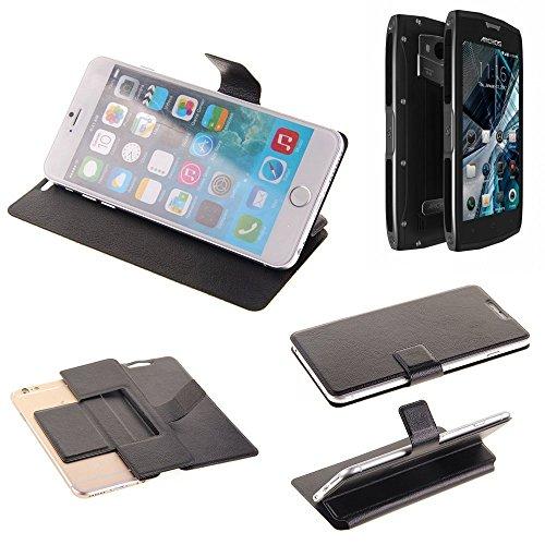 K-S-Trade Schutz Hülle für Archos Sense 50 X Schutzhülle Flip Cover Handy Wallet Case Slim Handyhülle bookstyle schwarz