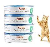 FIRIK - Recharge pour Poubelle à Couches Recharges Cassettes Anti-odeurs Compatible avec Diaper Genie Refill ,Angelcare,Playtex et Litter Locker II– Lot de 4