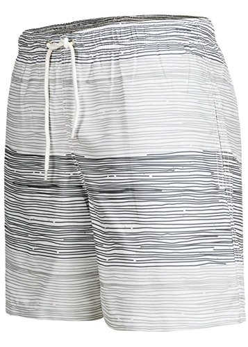 Occulto Badeshort Strips 2-Tone-Colours Grau/Anthrazit L