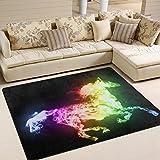 ingbags Super Weich Moderner Pferd, ein Wohnzimmer Teppiche Teppich Schlafzimmer Teppich für Kinder Play massiv Home Decorator Boden Teppich und Teppiche 160x 121,9cm, multi, 63 x 48 Inch