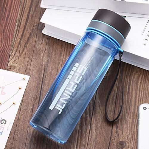 chmhy Prime time große kapazität Raum Tasse tragbare Tasse Kunststoff Sport Flasche im freien große Tasse Hand Tasse 1000 ml blau matt -1000 ml - Freien Im Sport