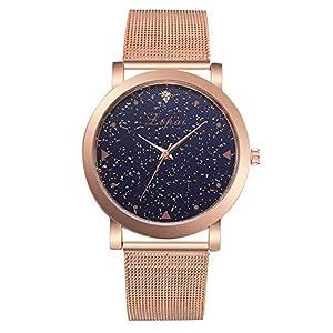 Damen Uhren Mode Star Himmel Beiläufig Quarz Edelstahl Stehlen Band Uhr Neue Analoge Armbanduhr für Frau Groveerble