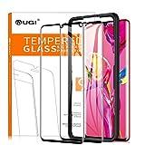 KuGi. pour Huawei P30 pro Protection écran, ultra Résistant Protecteur d'écran [Dureté 9H] verre trempé pour Huawei P30 pro (Noir) (Pack de 2)