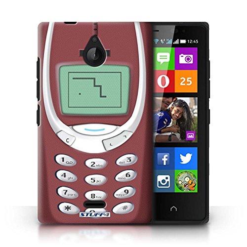 KOBALT® Hülle Case für Nokia X2 Dual Sim | Rotes Nokia 3310 Entwurf | Vintage Handys Kollektion
