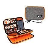 Dricar Universal Reisetasche mit Doppelschichte Organisator Tasche Tragetasche für elektronisches Zubehör wie Festplatte Telefon Ladegerät Tasche und Kabel 28 x 20 cm