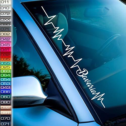 1A Style Sticker Pulsschlag Bavaria Frontscheibenaufkleber 26 Farben New e46 e36 e60 v8 v6 Performance Edition