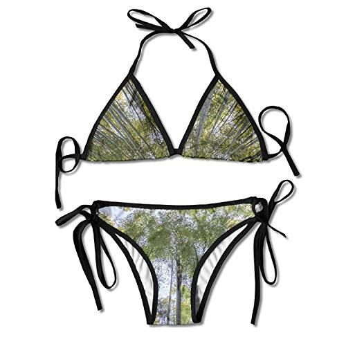 Bamboo Forest Bikini Women's Summer Swimwear Triangle Top Bikinis Swimsuit Sexy 2-Piece Set -