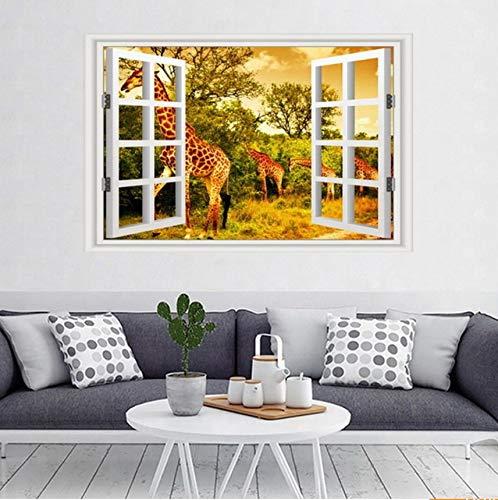 PANDABOOM 45X90 cm 3 Panels Landschaft Seascape Wandbilder Wandaufkleber Fensteraufkleber Tapete Aufkleber Dekoration, J