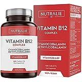 Vitamina B12 Vegana 2000mcg Cianocobalamina e Metilcobalamina | Alta Potenza senza Aggiunte | Formazione di Globuli Rossi e S
