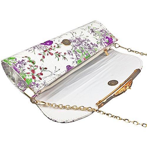 Dooppa - Borsa a tracolla donna Purple Flower
