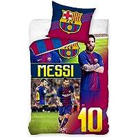 Juego de funda de edredón y funda de almohada oficial de Lionel Messi & FC Barcelona