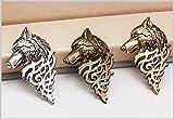 Samtlan - Männer Herren Klassiker Feder Form Wolf Head Brosche Pin Revers Stick Stifte Zubehör für Hochzeit Partei Mode Zeigen Abschlussball Bankett Anzug Kleidung Verzierung (3pcs)