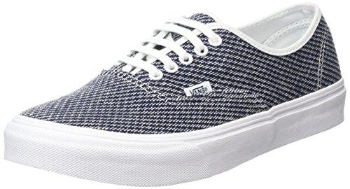 Authentic Blau Jersey (Vans Unisex-Erwachsene Authentic Slim Low-Top, Blau (Jersey Navy/True White), 39 EU)