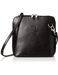 0ac70234fc Genuine Vera Pelle Women Cross body Italian Leather Small Mini Shoulder Bag  Handbag