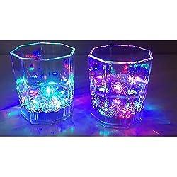 Nubstoer - Juego de 6 Vasos LED con luz Intermitente para Fiestas, Bodas, Discotecas, decoración de Navidad y Halloween