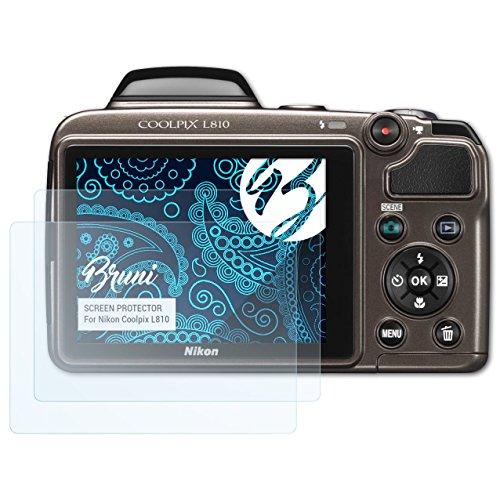Bruni Schutzfolie für Nikon Coolpix L810 Folie - 2 x glasklare Displayschutzfolie