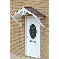 Regency copertura pioggia Shelter cover anteriore fai da te Apex Tenda con cornice bianca, marrone