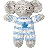 Sonajero Elefante de Ganchillo Azul Serie BabyGlück de Spiegelburg
