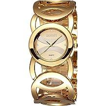 8c90ff665876 Relojes Mujer 2017 Moda Mujer Reloj Encantador Para Las Decoraciones De  Cristal De Oro De Las