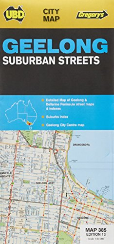 Geelong Suburban Streets 1 : 30 000: Detailed Map of Geelong & Bellarine Peninsula street maps & indexes. Suburbs Index. Geelong City Centre map (City Map)