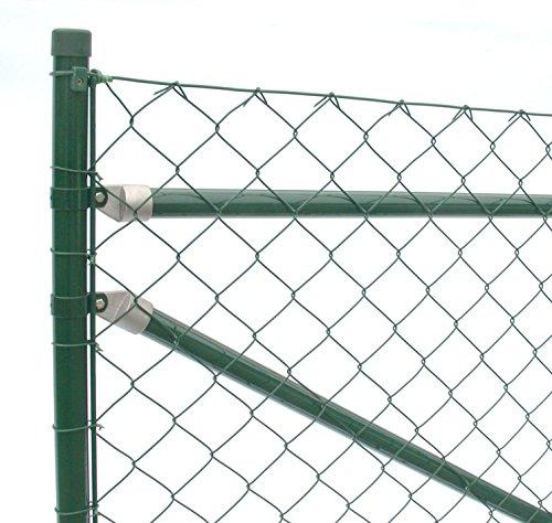 Maschendraht-Zaun-Set Länge Anthrazit-Metallic