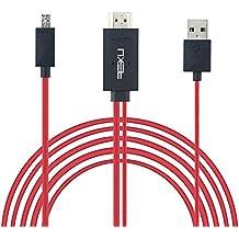 NXET® Sony MHL Micro USB a HDMI cable, 6,5ft 1080p HDTV Cargador Adaptador para Sony Xperia Z5Premium/Z5Compact/Z5/Z4V/Z4/Tablet Z4/Z3/Z3compact/Z2/Z1/Z Ultra/SP/SX/A/ZL/ZR