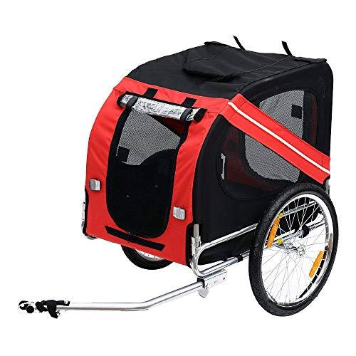 Coeffort 20 Zoll Aufblasbares Rad Haustier Anhänger, Aluminiumrahmen Fahrradanhänger Hundeträger, Große Fahrradanhänger für Hunde, Kann £ 88 Halten
