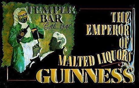 Guinness temple bar 1840 rahmenlos plaque en tôle signe de