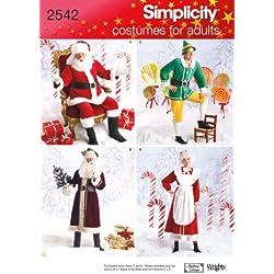 Simplicity 2542 - Patrón de costura para disfraces de hombre (tallas extra pequeña, pequeña y mediana)