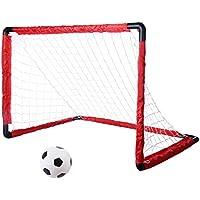 BOROK Enfant Jouet But de Football Portable Pliant Goal de Foot Enfant Cage de Football avec Filet et Cheville pour Enfant