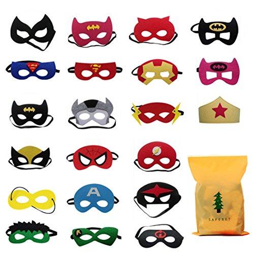 Formwin 21 pack Superhero Masks ...