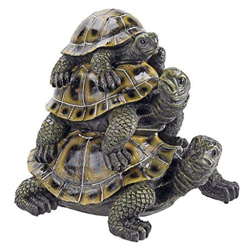 Design Toscano Figur Three's a Crowd mit drei übereinander sitzenden Schildkröten