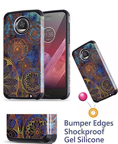 Für 14cm Motorola Moto Z2Play Z2Force Case Phone Case Stoßfest Kanten Hard Back Hybrid Bumper schützenden Schichten Slim, 5.5