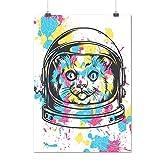 Mignonne Adorable Chat Animal La gravité Chaton Matte/Glacé Affiche A3 (42cm x 30cm) | Wellcoda