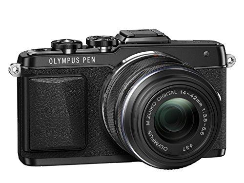 Olympus PEN E-PL7 Kompakte Systemkamera (16 Megapixel, manueller Zoom, Full HD, 7,6 cm (3 Zoll) Display, Wifi) inkl. 14-42 mm Objektiv schwarz/schwarz