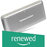 (Renewed) Harman Kardon Traveler Portable Wireless Speakers with Built-in Power Bank (Silver)