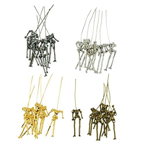 Sharplace 24 Sets Pendente Stilo Scheletro Umano DIY Bambole In Lega Ciondolo Connettore Per Fabbricazione Gioielli