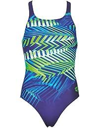 arena Mädchen Sport Badeanzug Spike (Schnelltrocknend, UV-Schutz UPF 50+, Chlorresistent, Offener Rücken)
