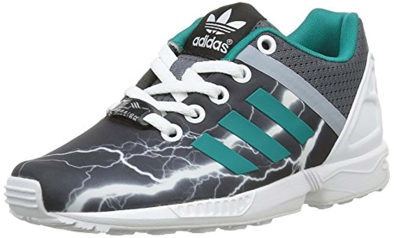 Adidas Unisex Kids' Zx Flux Split K Low-Top Sneakers, Black (Onix/Equity Green/Footwear Whiteonix/Equity Green/Footwear White), UK Child 5