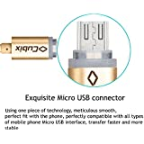 Cubix USB Data Charging Cable (Fast Charging Micro USB - Android, Gold C004) Charger Cable - Made in Korea