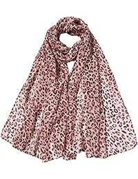 3f10e8d8cea4b Zolimx Chiffon-Leopard Schal Klimaanlage Schal Mode Frauen Lange weiche  Wrap Schal