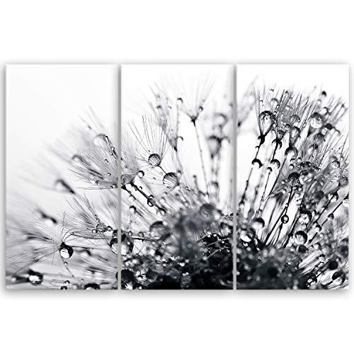 ge Bildet® hochwertiges Leinwandbild XXL - another world - schwarz weiß - 120 x 80 cm mehrteilig (3 teilig) 2208 H
