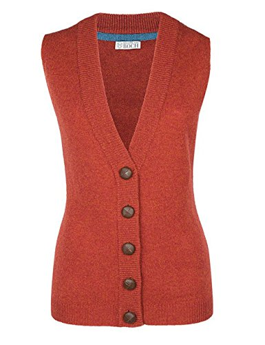 Brigitte von Boch - Damen - Moray Strick-Weste rot-orange, Größe:L